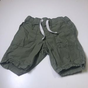 3/$12 Old Navy functional drawstring olive shorts